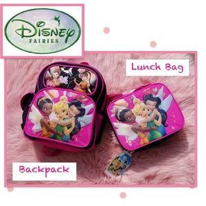 Disney Tinkerbell & Friends Backpack & Lunch Bag